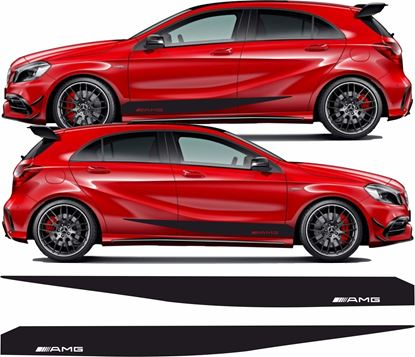 """Picture of Mercedes  A Class / A45 """"AMG"""" side Stripes / Stickers"""