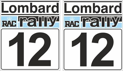 Picture of Lombard RAC Rally Door Numbers