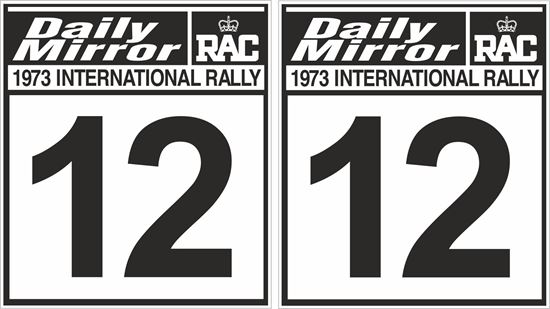 Picture of Daily Mirror RAC 1972 Int Rally Door Numbers