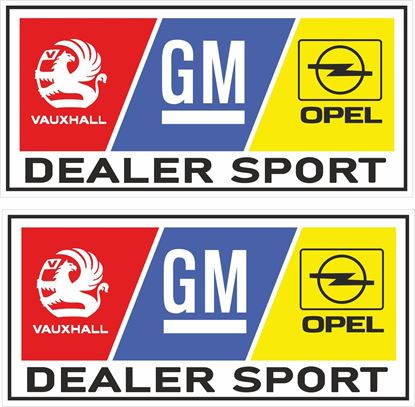 Picture of Vauxhall / Opel Dealer Sport Decals / Stickers