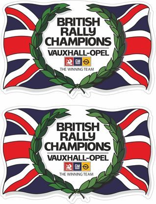 Picture of Vauxhall / Opel British Rally Champions  Decals / Stickers