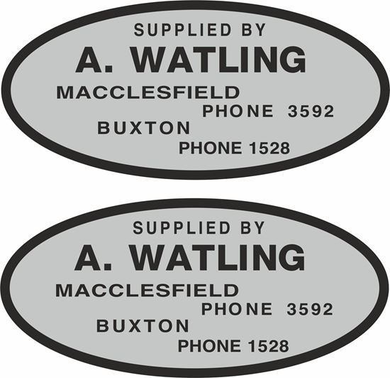 Picture of A. Watling Macclesfield Dealer Decals / Stickers