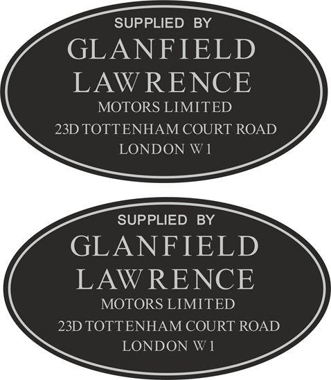 Picture of Glanfield Lawrence London  Dealer Decals / Sticker