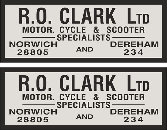 Picture of R.O. Clark Norwich / Dereham Dealer Decals / Stickers