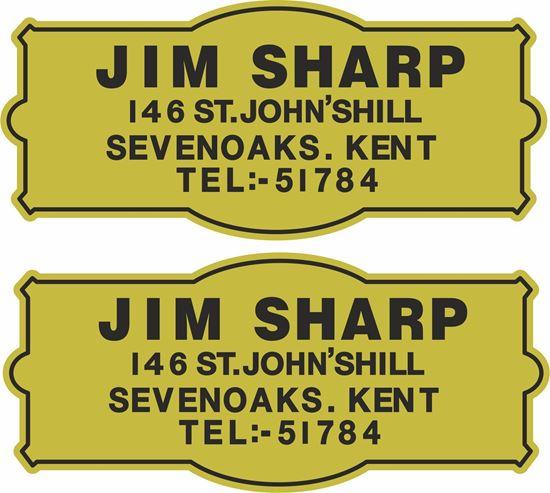 Picture of Jim Sharp Kent Dealer Decals / Stickers