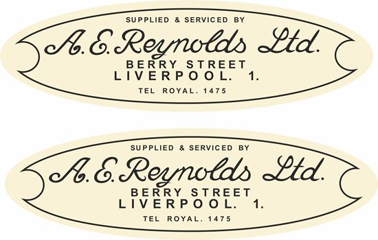 Picture of A.E. Reynolds Ltd Liverpool Dealer Decals / Stickers