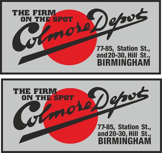 Picture of Colmore Depot Birmingham Dealer Decals / Stickers