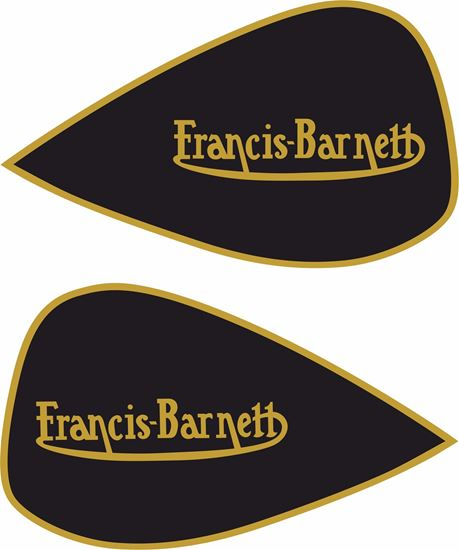 Picture of Francis Barnett Motorcycle replacement Decals / Stickers