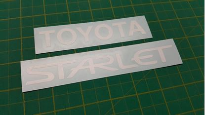 Picture of Toyota Starlet EP replacement rear hatch Decals / Stickers