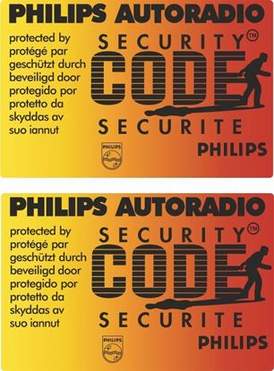 Picture of Philips Autoradio Security Code Glass Decals / Stickers