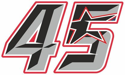 """Picture of """"45"""" Scott Redding Track and street race nose cone number Decal / Sticker"""
