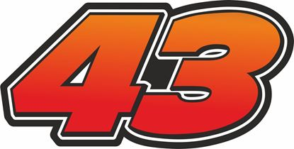 """Picture of """"43 """"Jack Miller Track and street race nose cone number Decal / Sticker"""