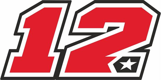 """Picture of """"12"""" Maverick Vinales Track and street race nose cone number Decal / Sticker"""