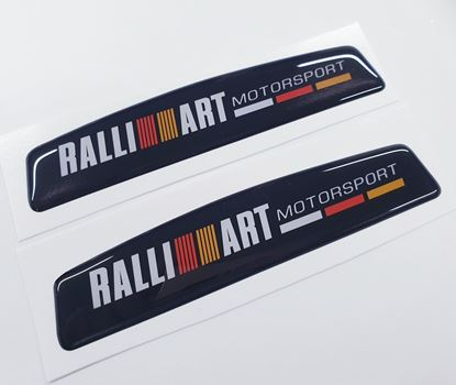 "Picture of ""Ralliart Motorsport"" exterior adhesive Badges"