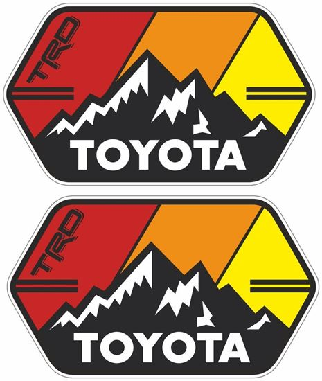 """Picture of """"Toyota TRD""""  Decals / Stickers"""