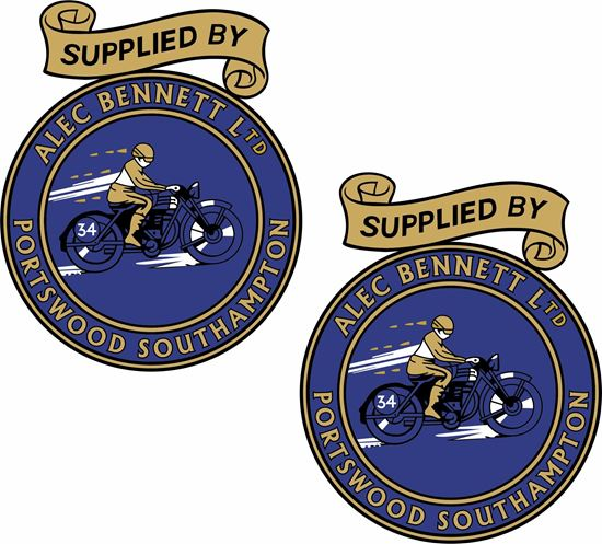 Picture of Alec Bennett Ltd Motorcycle Decals / Stickers