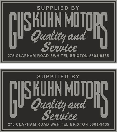 Picture of Gus Kuhn Motors Dealer Decals / Stickers