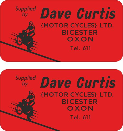 Picture of Dave Curtis Motors Dealer Decals / Stickers