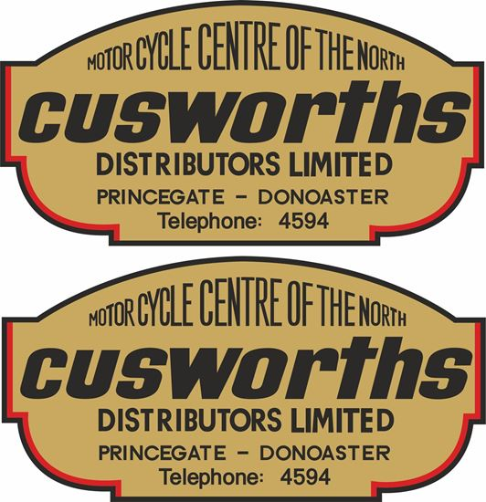 Picture of Cusworths Dealer Decals / Stickers
