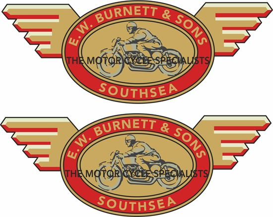 Picture of E.W. Burnett & Son Southsea Dealer Decals / Stickers