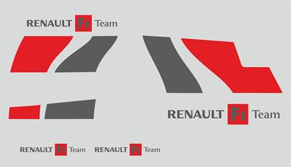 Picture of Renault Megane R26 F1 Team Decals / Stickers CUSTOM