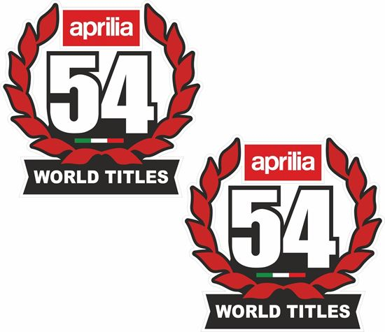 Picture of Aprilia 54 World titles Decals / Stickers