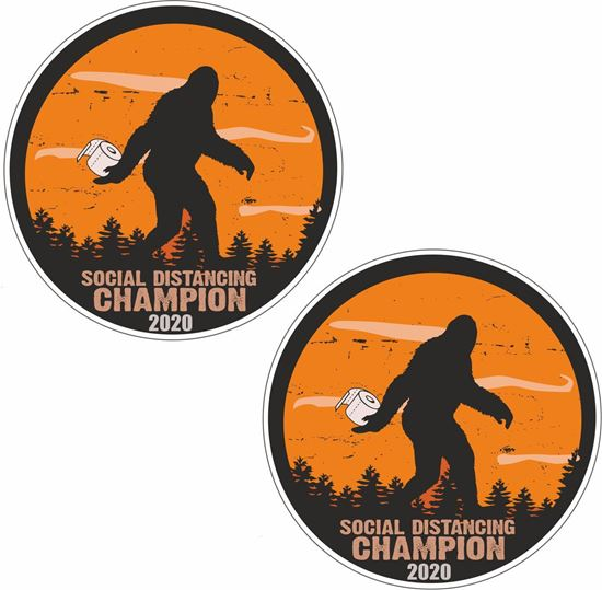 Picture of Social Distancing  Champion Decals / Stickers