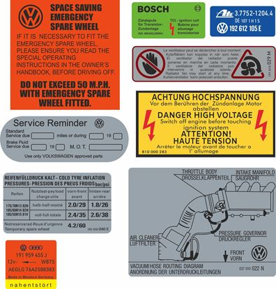 Picture of MK2 Golf GTI 8V replacement Decals / Stickers