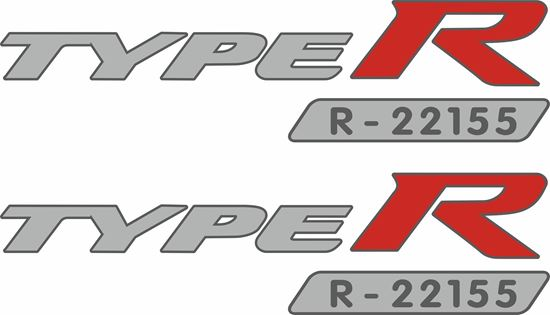 Picture of Honda Civic FK2 / FK8 Type R Serial Number Decals /  Stickers