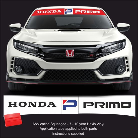 Picture of Honda Primo Sunstrip  / Sticker FITS ALL