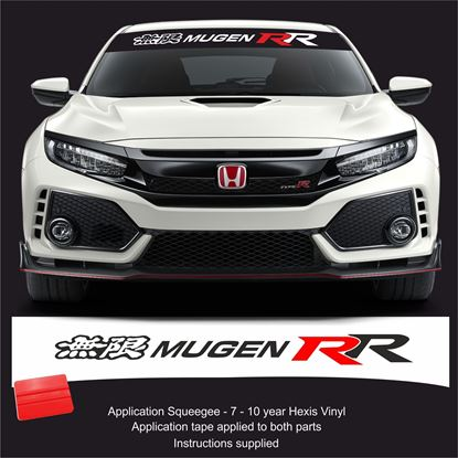 Picture of Honda Mugen RR  Sunstrip  / Sticker FITS ALL