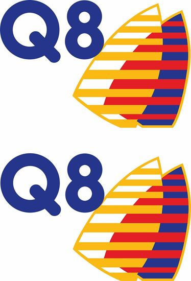 """Picture of """"Q8""""  Decals / Stickers"""