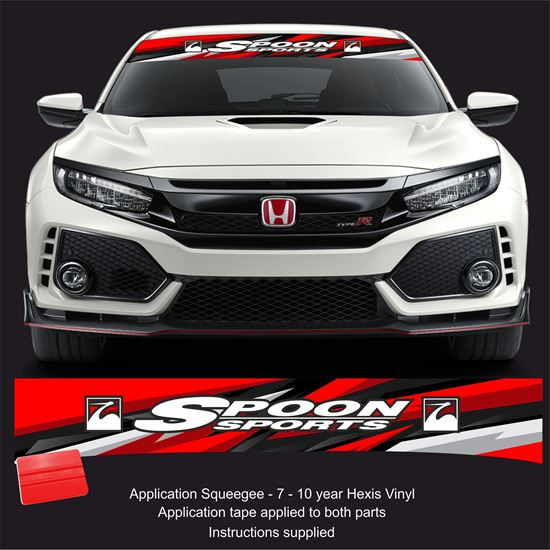Picture of Honda Spoon Sports Sunstrip  / Sticker FITS ALL