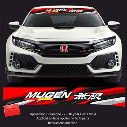 Picture of Honda Mugen Sunstrip  / Sticker FITS ALL