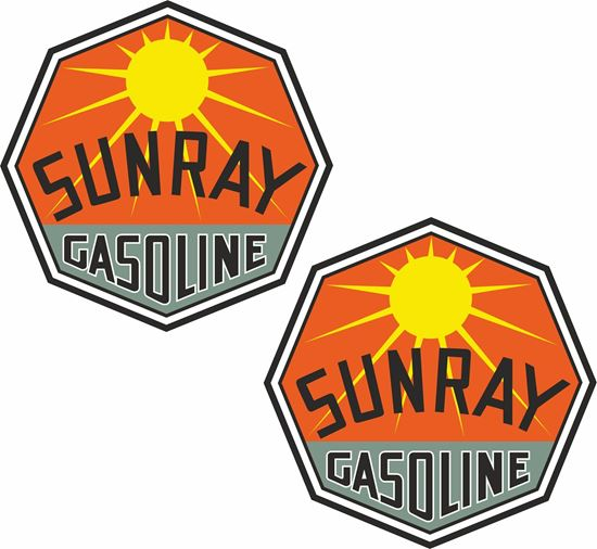 Picture of Sunray Gasoline Decals / Stickers