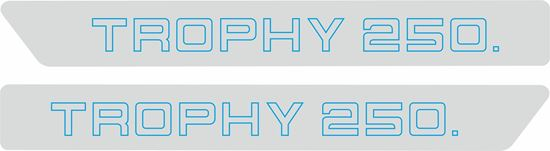 Picture of Triumph Trophy 250 replacement side Cover Decals / Stickers