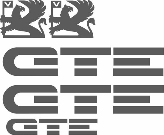 Picture of Vauxhall Nova GTE replacement Decals / Stickers ANTHRACITE