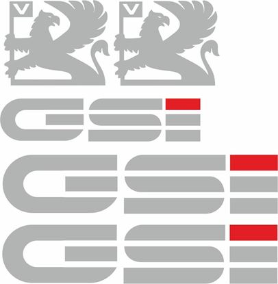 Picture of Vauxhall  Nova GSi replacement Decals / Stickers (early Design) SILVER