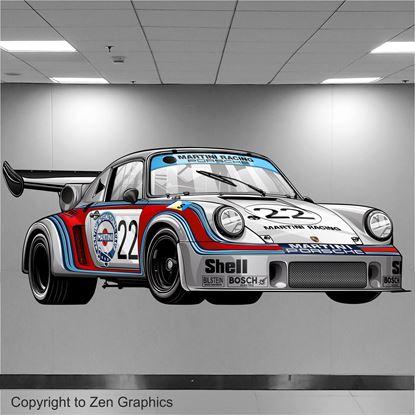 Picture of Porsche 911 RSR Le Mans Wall Art sticker (full colour)