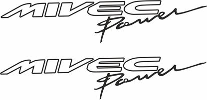 "Picture of Mitsubishi ""Mivec Power"" Decals / Stickers"