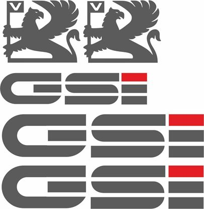 Picture of Vauxhall  Nova GSi replacement Decals / Stickers (early Design) ANTHRACITE