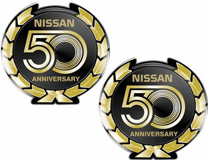 Picture of Nissan 50th Anniversary adhesive Gel Badges