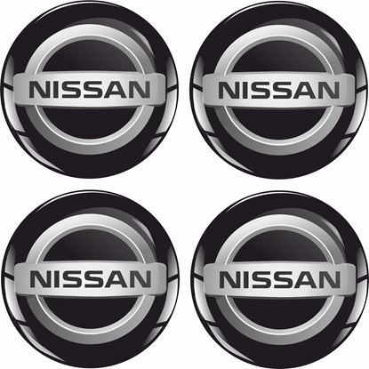 Picture of Nissan Wheel centre Gel Badges