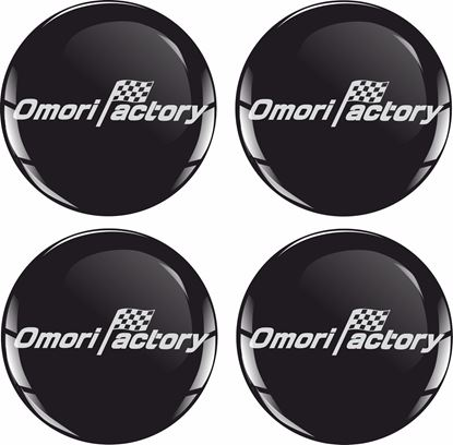 Picture of Omori Factory Wheel  centre Gel Badges