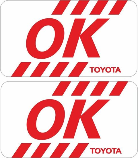 Picture of Toyota Inspection replacement Glass Decal / Sticker