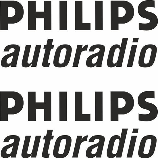 Picture of Renault Philips autoradio Decals / Stickers