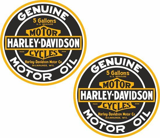 Picture of Harley Davidson Genuine Motor Oil Decals / Sticker
