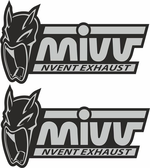 "Picture of ""Mivv Invent Exhaust"" Decals / Stickers"