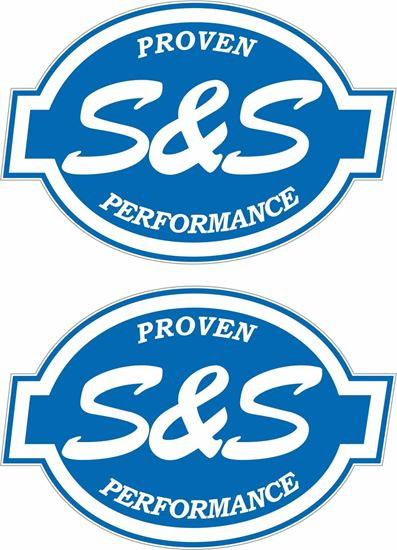 """Picture of """"S&S Performance""""  Track and street race sponsor Decals / Stickers"""