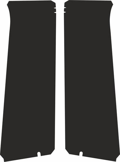 Picture of Vauxhall  Astra MK5 3 Door B Pillars replacement Textured Matte Black Vinyl